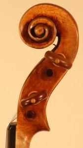 Schnecke der Stradivari Diskantseite